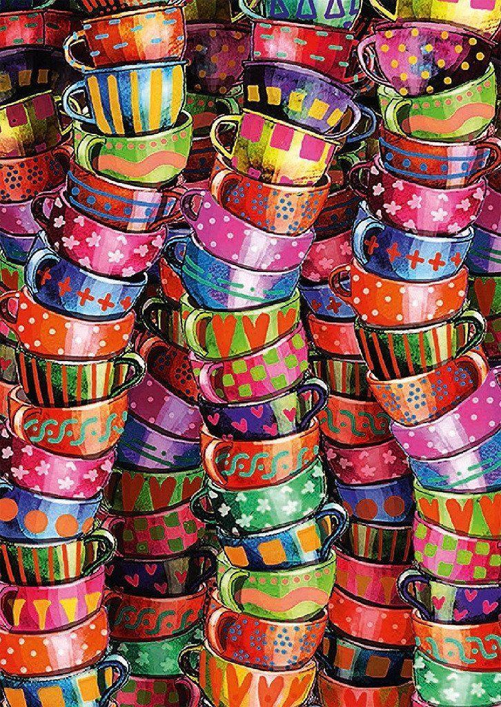 Colorful Mugs 500 Piece Puzzle New puzzle, 500 piece