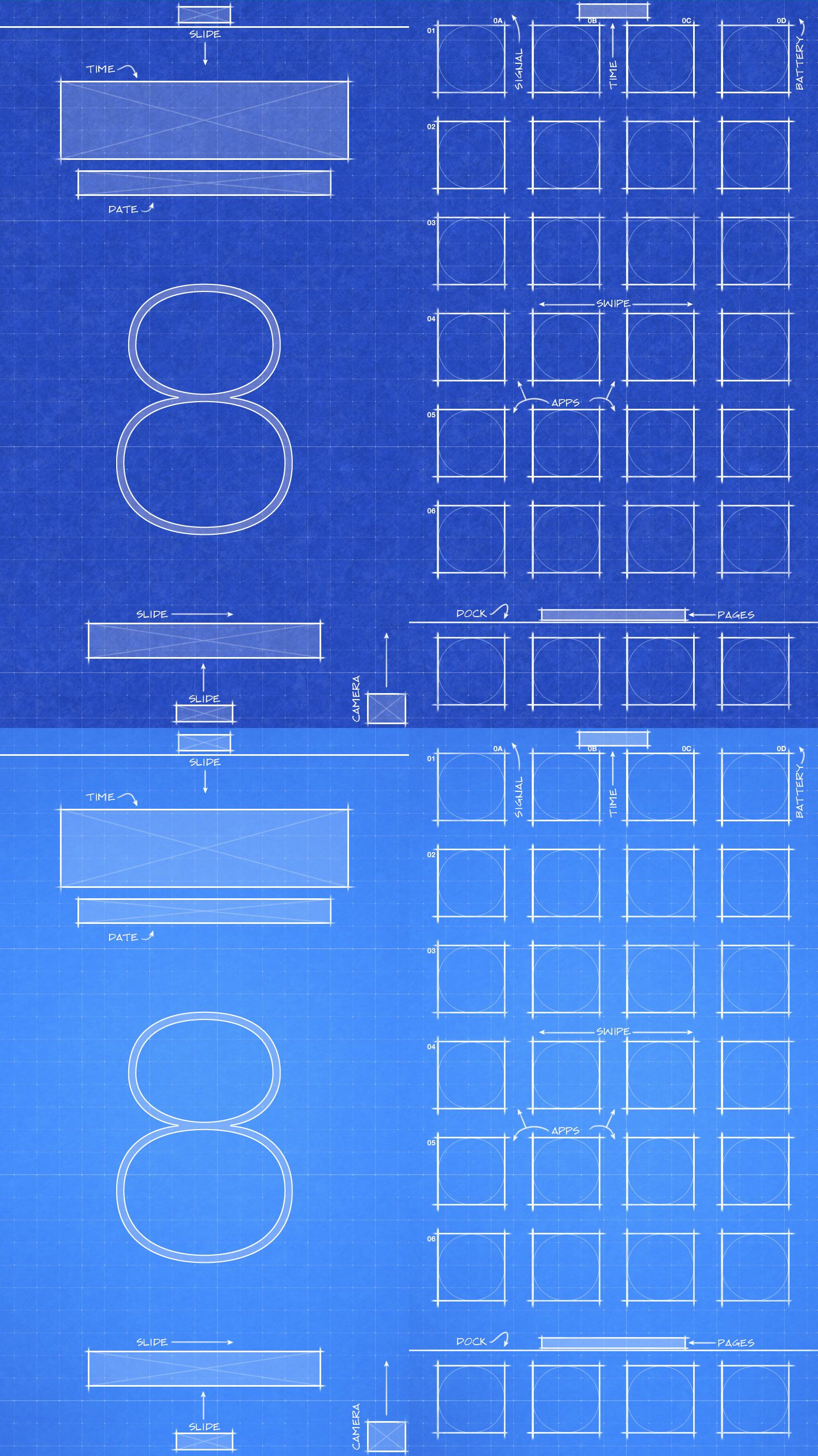 Iphone 6 Ios8 Blueprint Wallpaper By Jessemunoz Deviantart
