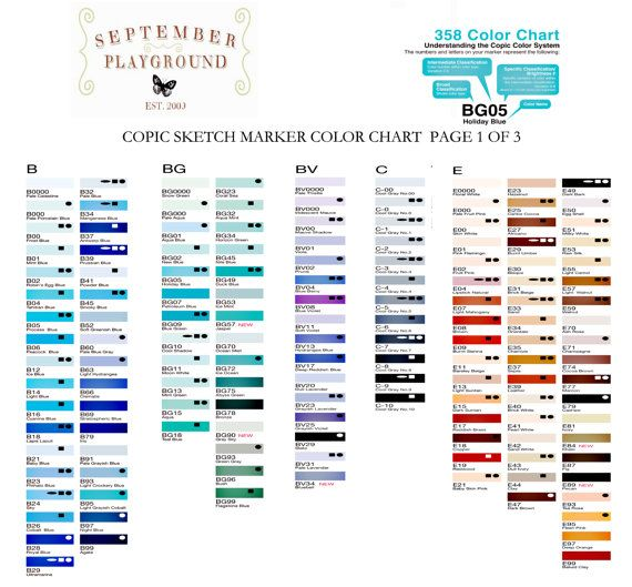 Copic Sketch Markers Pick Your Own  Colors  Includes  Free