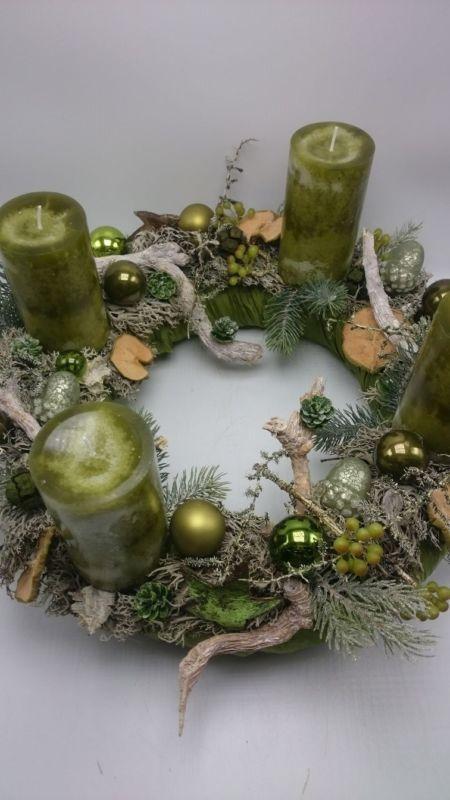 Adventskranz Weihnachtskranz Mit Kerzen Kugeln Beeren Xxl