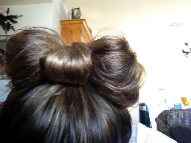 Yayyyy I finally accomplished my bow bun ✨