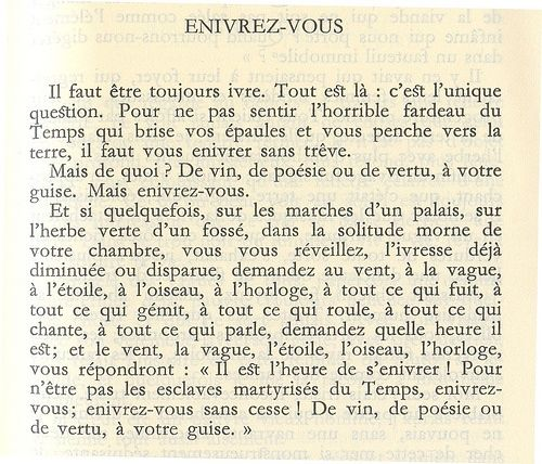 Enivrez Vous Petits Poèmes En Prose Charles Baudelaire