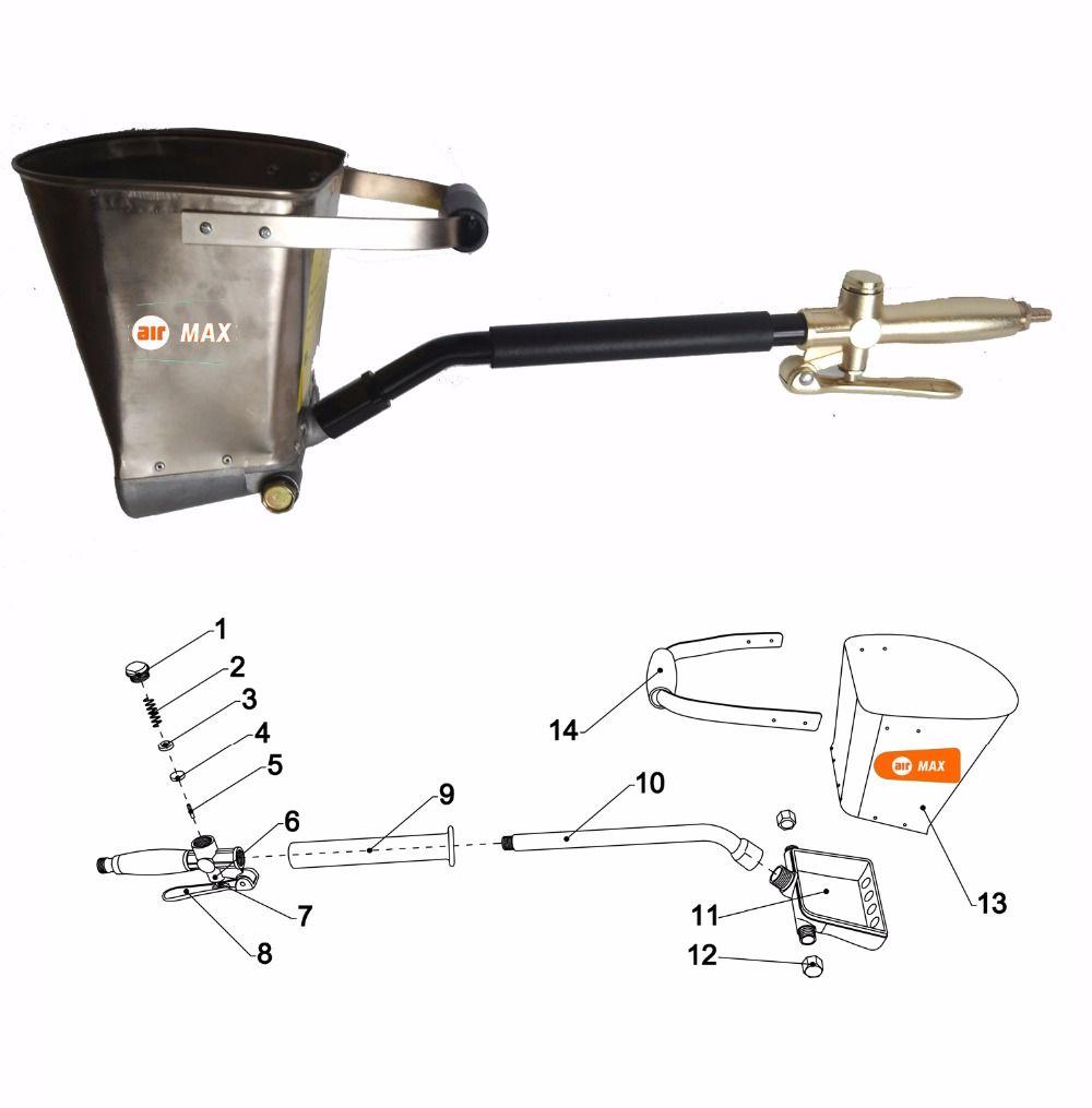 New light weight air stucco sprayer mortar sprayer for Lightweight stucco