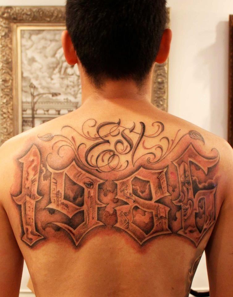 Letters By Mr Cartoon Tattoo Lettering Est Tattoos Tattoo