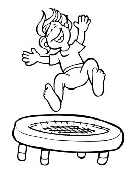 Kid Jumping On The Trampoline Coloring Page Super Gyerekszoba