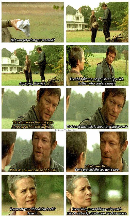 The Walking Dead - Daryl Dixon and Carol Peletier .. deleted scene