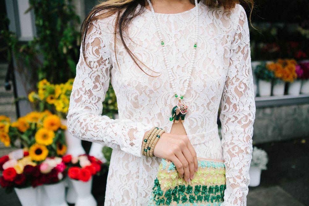 Handmade Elephant Green Necklace by: @kismetmx ! #handmade #fashion #style #accessories