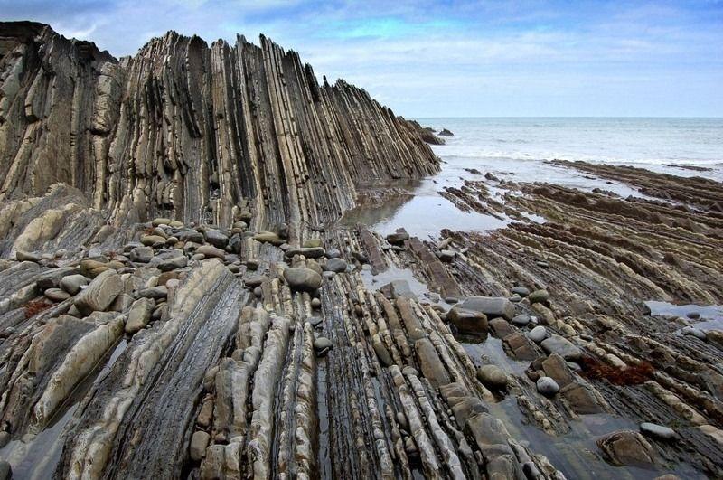 Flysch Zumaia 4 Nordspanien Rock Formations Rock Und Geology