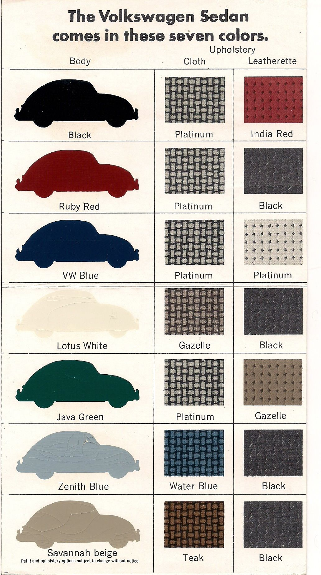 67 Beetle It Comes In 7 Colors Vw Bug Collector Pinterest Porsche 356 Wiring Diagram One Thing We Get A Ton Of Emails About Here At 1967beetlecom Is Color Combinations Seems Everyone Wants To Know What The Correct Combo For Their Vi