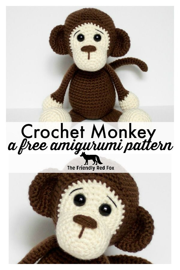 Free Crochet Monkey Amigurumi Pattern | crochet animals