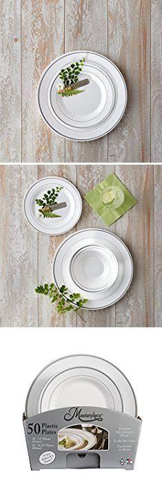 Masterpiece Disposable Plates. Masterpiece Premium Quality Heavyweight Plastic Plates 25 Dinner Plates and 25  sc 1 st  Pinterest & Masterpiece Disposable Plates. Masterpiece Premium Quality ...