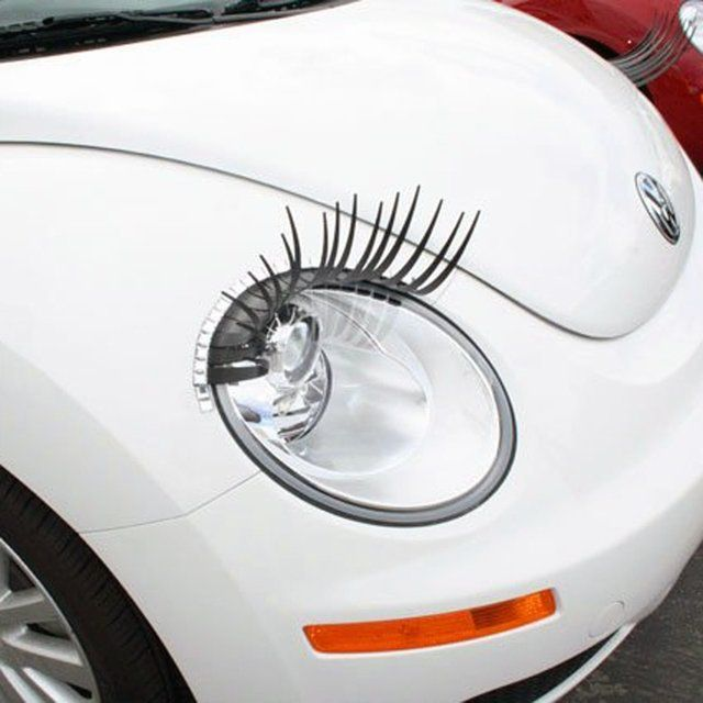 Black Eyelashes For Your Car These Lashes Attach With 3m Double