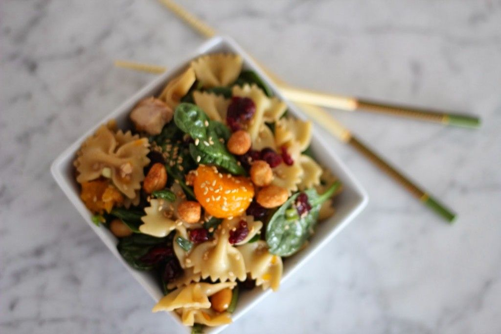 Spinach, Chicken and Bowtie Pasta Salad for 100 - A Bountiful Kitchen