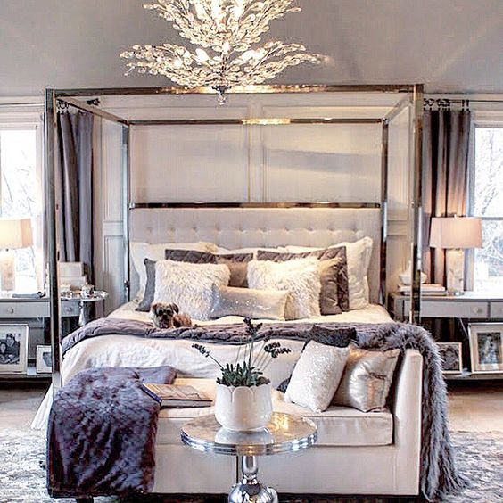Beautiful Master Bedroom Decorating Ideas 43 I Like The: #パープル #紫 #インテリア #インテリアコーディネート #カラーコーディネート #寝室 #ベッドルーム