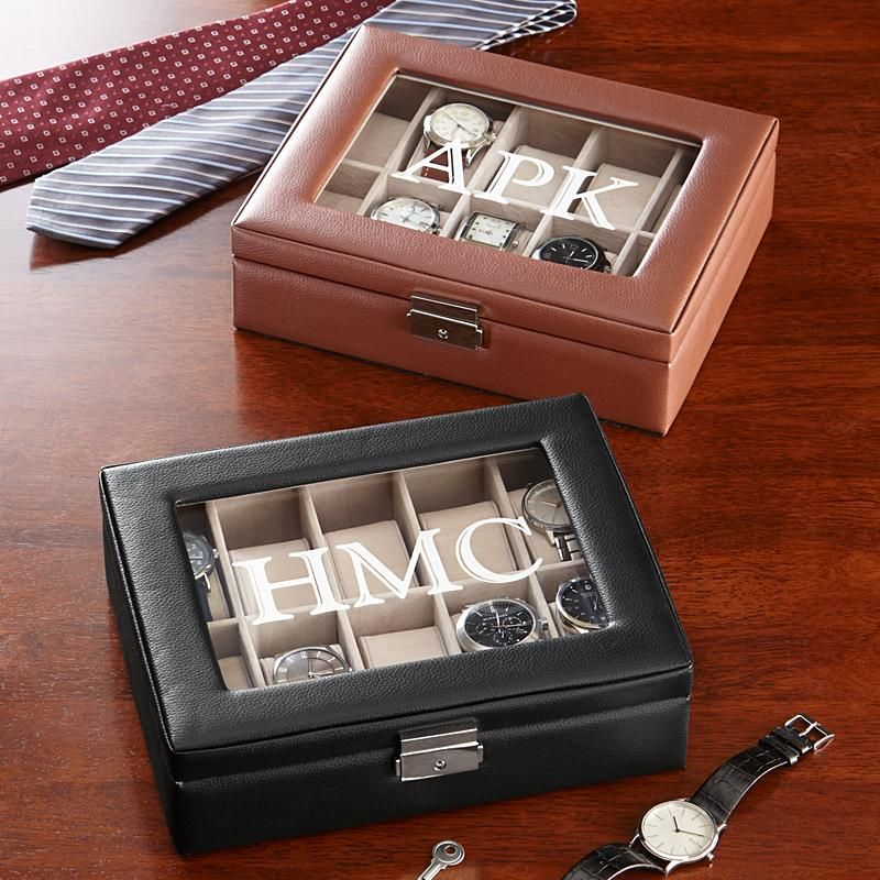 Leather Watch Box Anniversary gifts for him