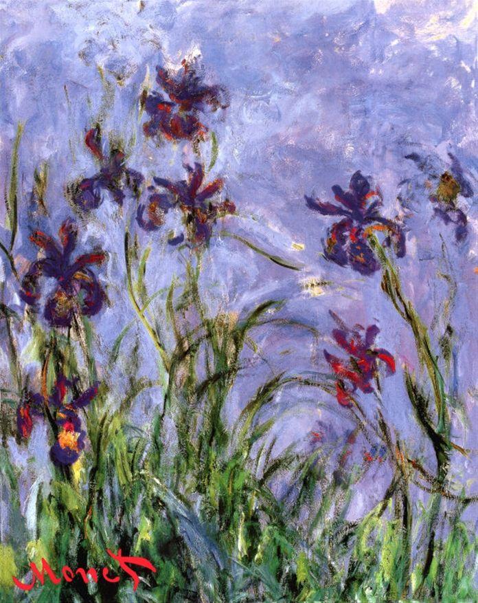 Irises Print by Claude Monet at Art.com