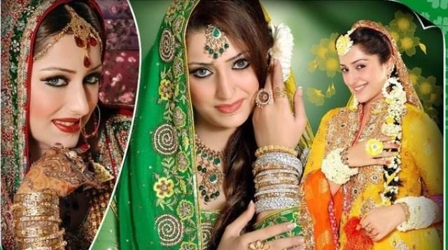 Bridal Hairstyle Pics For Mehndi : Bridal mehndi dress outfits & modern hairstyle 2014 15 5 fashion