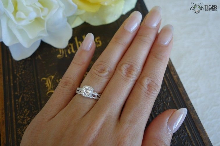 Size 11 Engagement Ring You May Or Might Not Be Staying Together As A Couple Both Of Both Ha Halo Wedding Set Wedding Ring Sets Vintage Bridal Sets Vintage