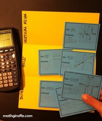 What Makes A Vertical Asymptote Vs Hole Guided Inquiry Lesson Free For Algebra Pre Calc