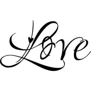 """""""Love"""" script font 