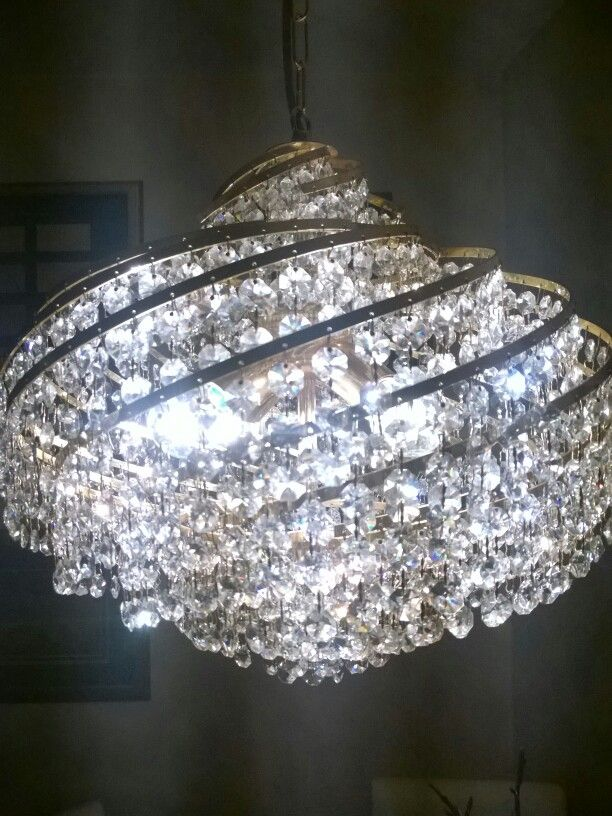 Kronleuchter , ca 50cm breit , Kristall und Messing | Chandelier ...