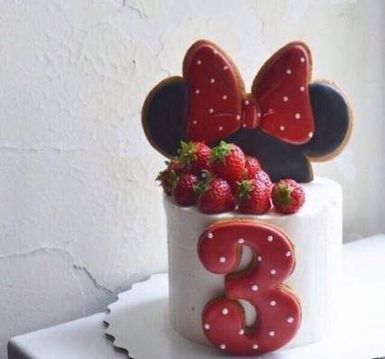 Birthday Cake Simple Girl Minnie Mouse 41+ Super Ideas #minniemouse