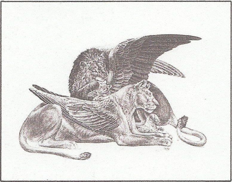 Winged lion tattoo - photo#51