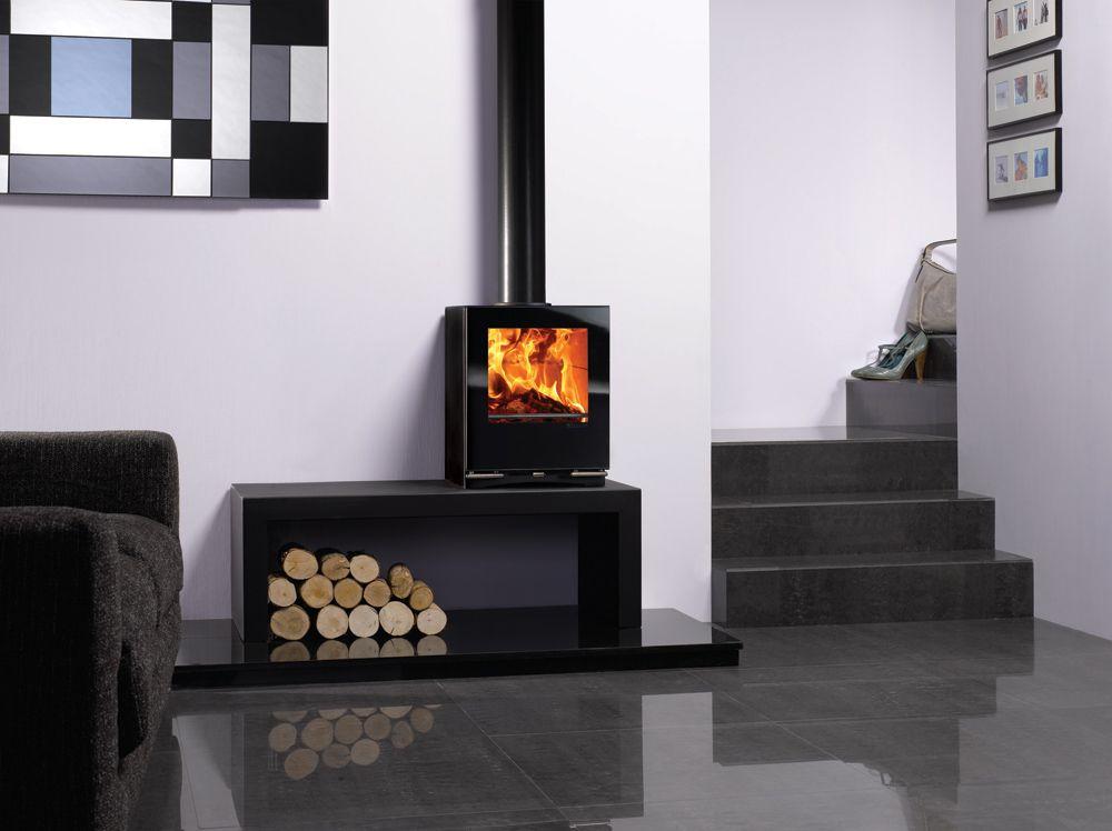 le po le bois vision petit de stovax sur banc riva 100. Black Bedroom Furniture Sets. Home Design Ideas