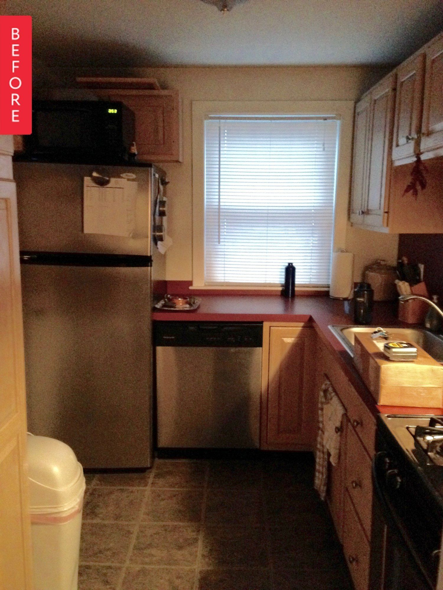 Before & After: A (Mostly) DIY Compact Kitchen Remodel | Pinterest ...