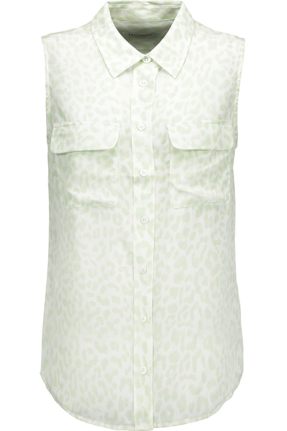 965c8cdfd29f9 EQUIPMENT Leopard-Print Washed-Silk Blouse.  equipment  cloth  blouse