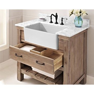 Fairmont Designs Napa 36 Quot Farmhouse Vanity Sonoma Sand Farmhouse Vanity Farmhouse Bathroom Vanity Farmhouse Style Bathroom Vanity
