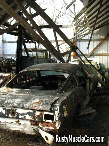 1966 Mustang In Old Shop Rusty Muscle Car Photos And Project