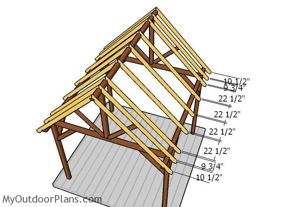 10x10 Pavilion Roof Plans Myoutdoorplans Free Woodworking Plans And Projects Diy Shed Wooden Playhouse Pergola Bbq Roof Plan Gazebo Roof Pavilion Plans