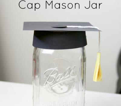 Graduation Hat Mason Jar