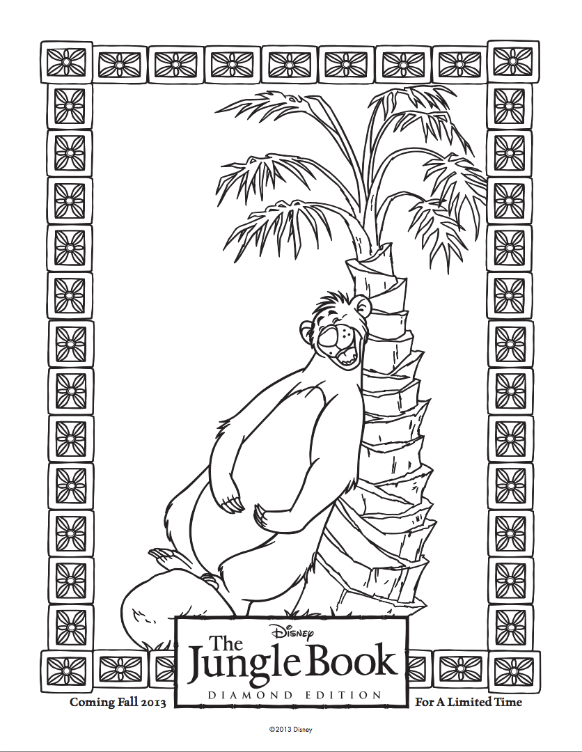 The jungle book coloring games - The Jungle Book Coloring Sheet