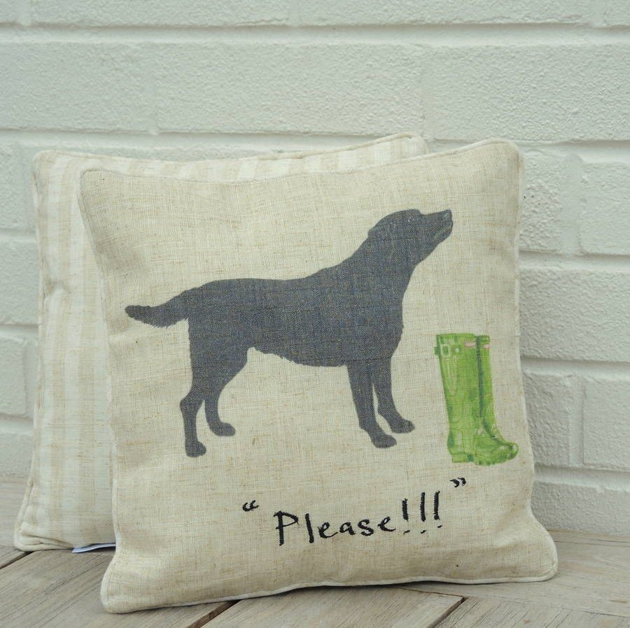 black labrador cushion by the alphabet gift shop | notonthehighstreet.com