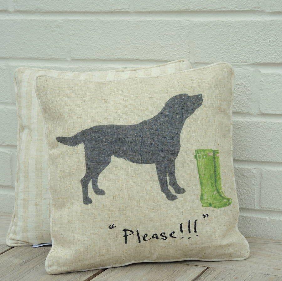 black labrador cushion by the alphabet gift shop | notonthehighstreet.com