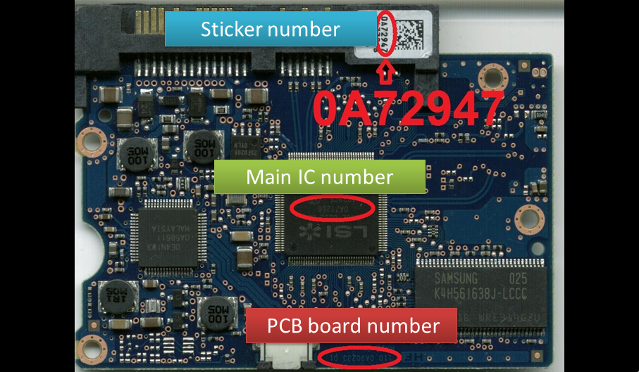 Hitachi Deskstar Repair And Data Recovery Tip Board Compatibility Sticker 0a72947 Cpu 0a71256 Board 110 0a90233 01 Hds7210 Data Recovery Hitachi Repair