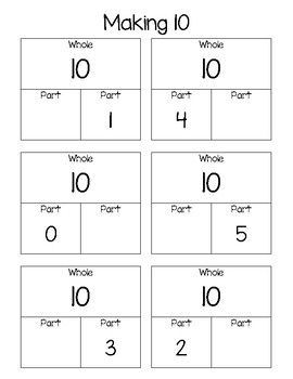 Whole To Part Worksheets With Images Math Work Go Math First