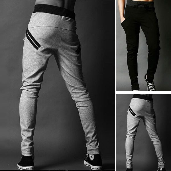 0b4b1b9b1 Boy Male Training Gym Jogging Sports Skinny Sweat Pants Men Trousers Harem  Pants in Clothes, Shoes & Accessories, Men's Clothing, Trousers | eBay!