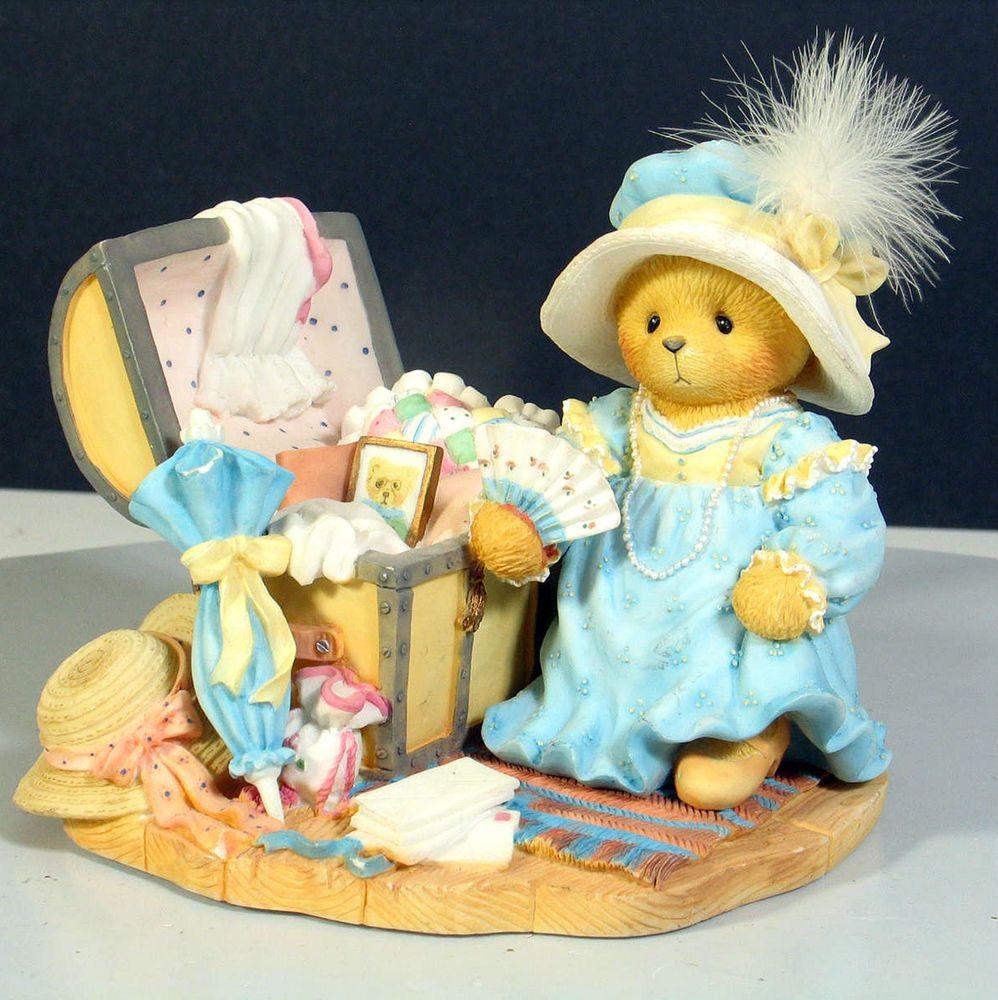 1992 Cherished Teddies Rocking horse Cherished Teddies Cherished Teddies Christmas Figurine Bear on rocking horse Morethebuckles