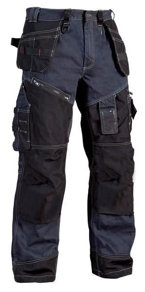 Photo of Blaklader Knee Pad Work Trousers with Nail Pockets (Denim) X1500 – 1500 1140