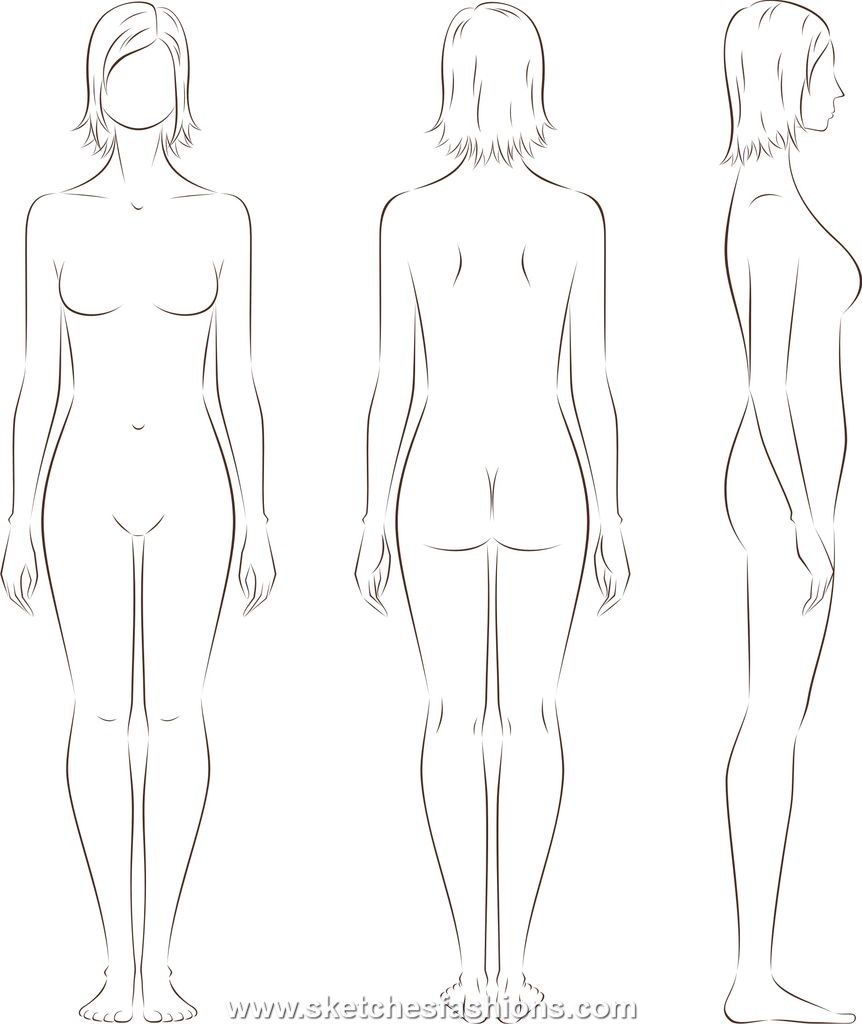 Womens body proporton sketch