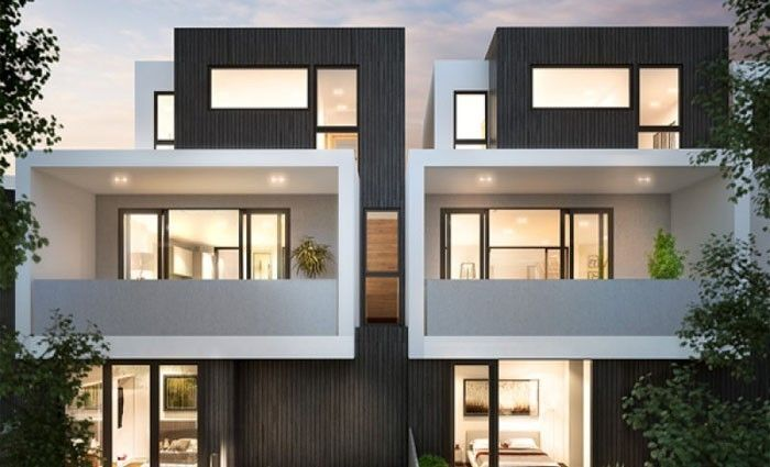 Duplex Apartment Design Exterior four week sell out for alphington, melbourne's hemingway
