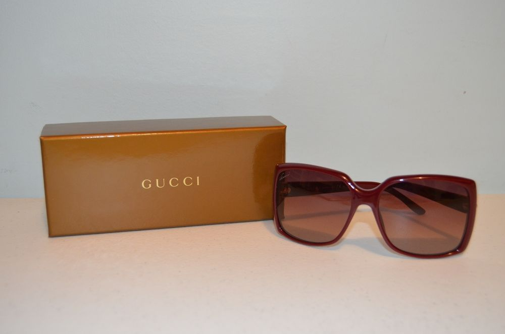 00ea9cad9e Gucci GG 3589 S LHFD8 Maroon Ladies Designer Sunglasses-Made in Italy-Brand  New  Gucci  Designer