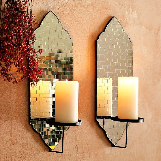 Mirrored Wall Sconce Candle Wall Sconces Mirrored Wall Sconce
