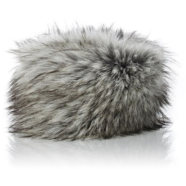 Imposter Faux-Fur Cossack Hat ($135) ❤ liked on Polyvore featuring accessories, hats, grey, gray hat, faux fur hat, fake fur hats, fox hat and logo hats