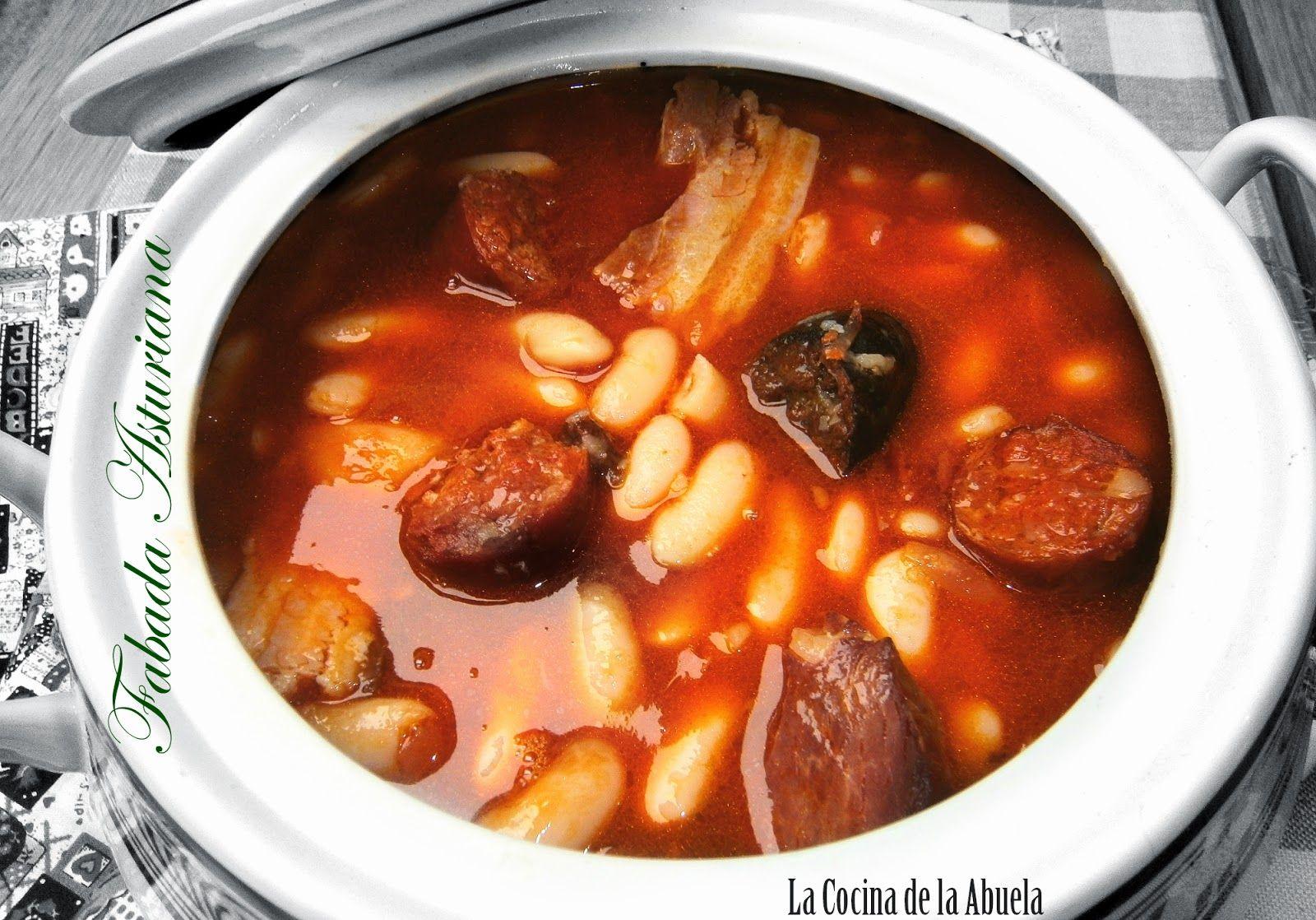 Fabada Asturiana Receta Paso A Paso Receta De Tradicional Sencilla Cocina Tradicional Cuchara Fabada Asturiana Cocina Espanola Recetas Recetas De Cocina