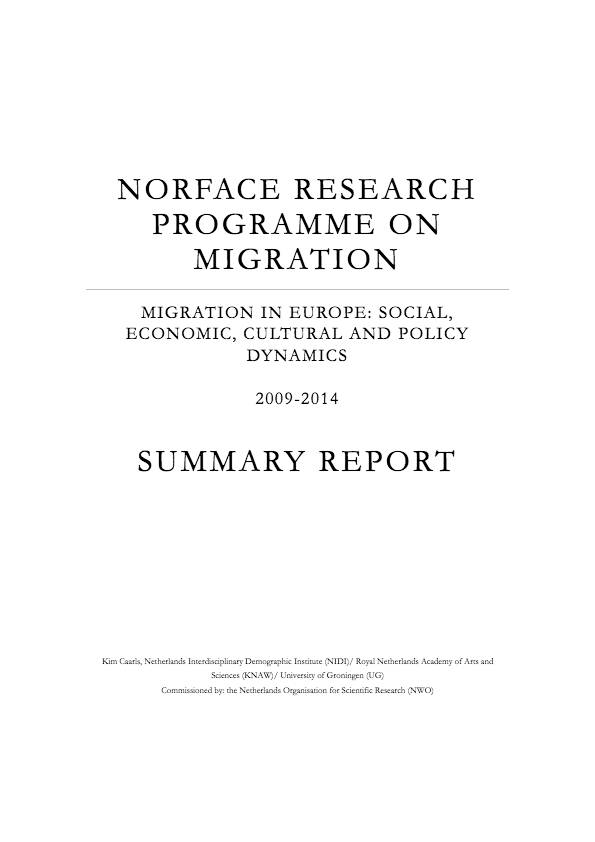 Caarls K  Norface Research Programme On Migration Migration