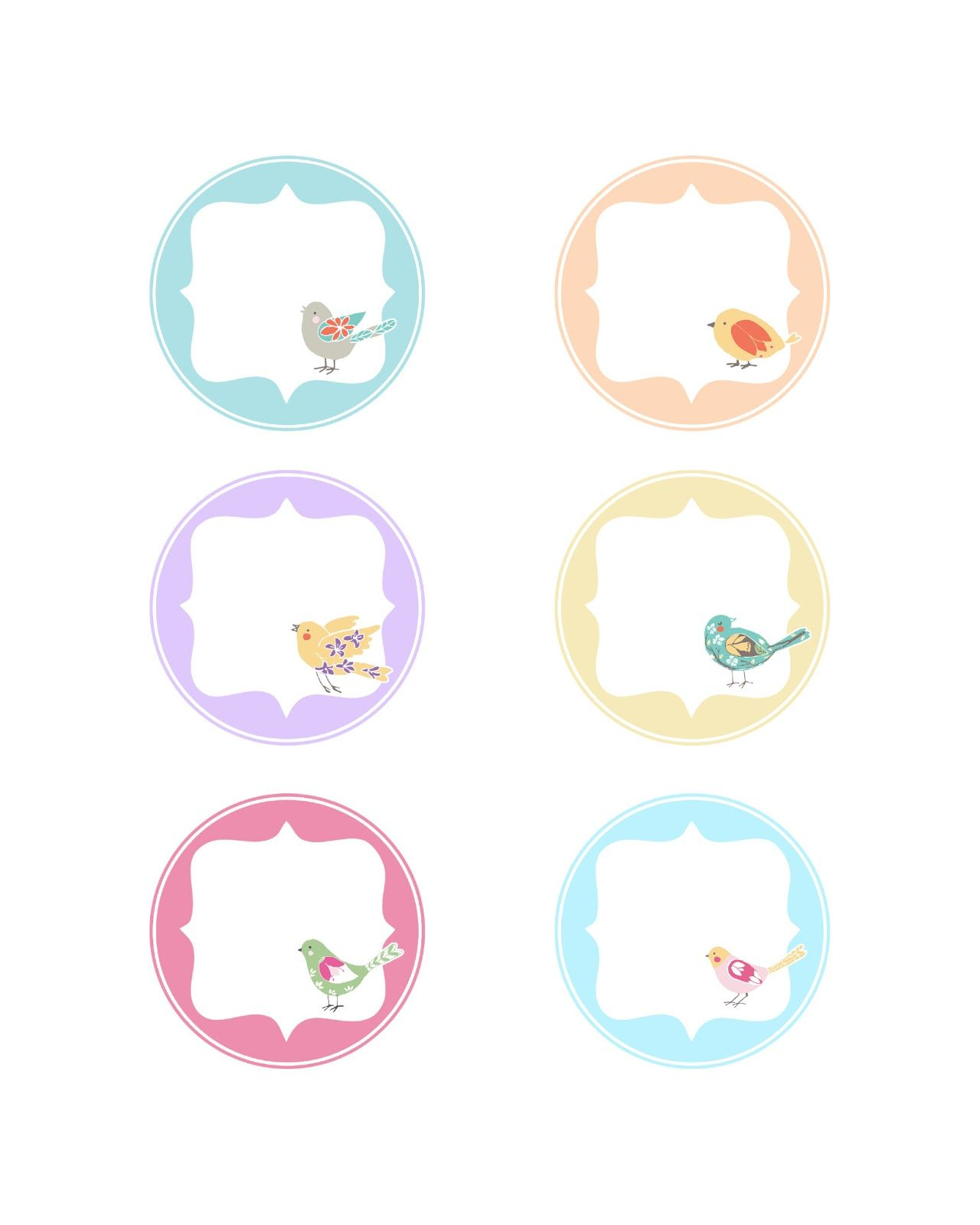Free Graphics Spring Time Bird Tags
